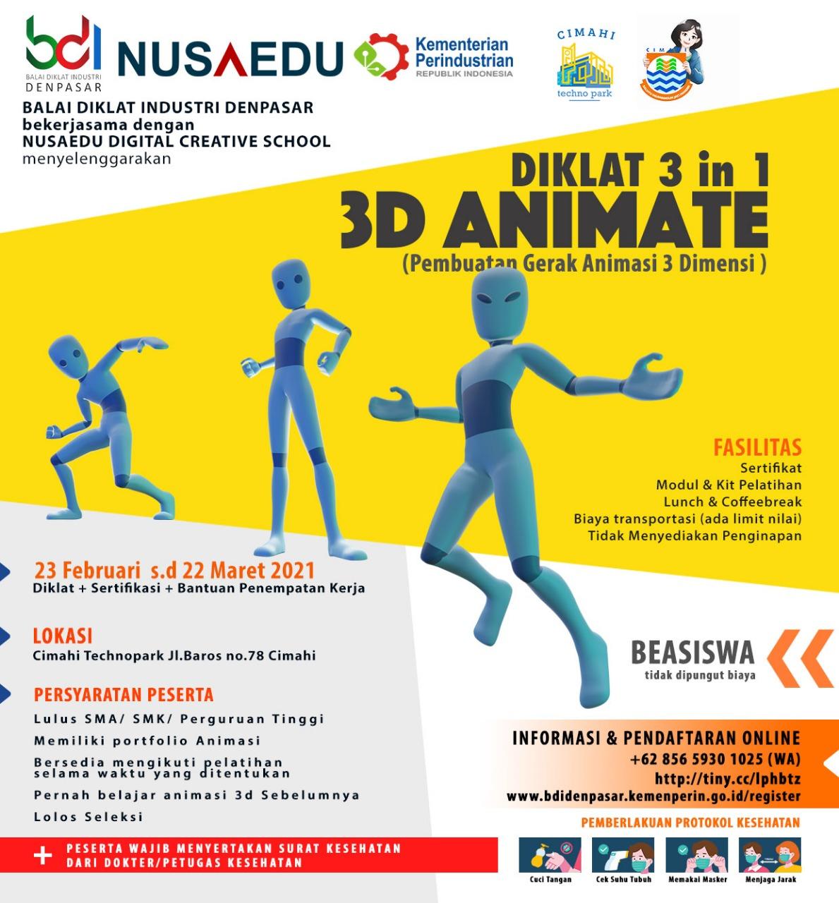 DIKLAT 3 in 1 3D Animate